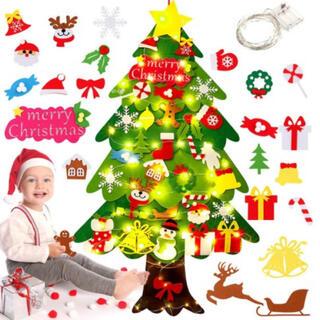 クリスマスツリー壁掛け飾りタペストリーオーナメント雑貨イルミネーションプレゼント