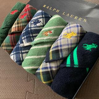 Ralph Lauren - 素敵なデザインたくさん・クリスマスギフト⭐️ラルフローレン ガーゼタオルハンカチ