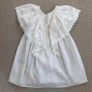 【2-4y】FAUNE Hibiscus ドレス