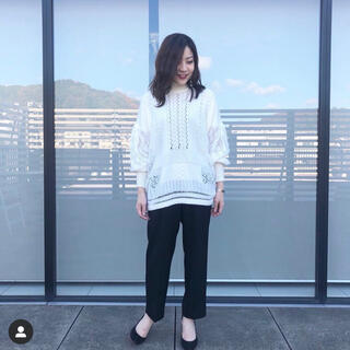 mame - mame kurogouchi knit 白 秋冬 美品
