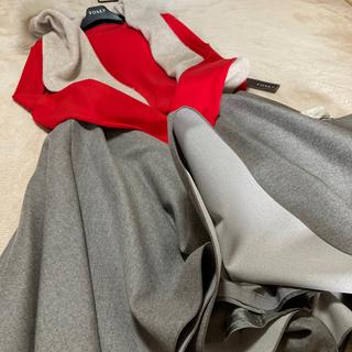 フォクシー(FOXEY)のフォクシーウールフレンチナチュラルベージュ89000円42サイズ(ひざ丈スカート)