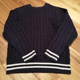 GU - ニット セーター 長袖 紺色 GU 130㎝