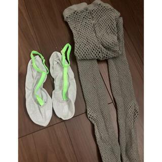 シアタープロダクツ(THEATRE PRODUCTS)のシアタープロダクツ モールネットタイツとフットカバー靴下のセット(ソックス)
