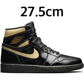 NIKE - AIR JORDAN 1 RETRO BLACK-METALLIC GOLD