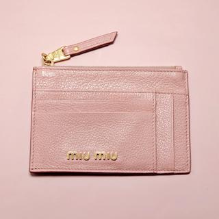 miumiu - miumiu フラグメントケース カードケース コインケース 【新品未使用】