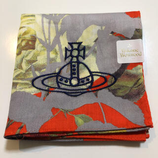 Vivienne Westwood - ヴィヴィアンウエストウッド ハンカチ オレンジ 花柄ボタニカル