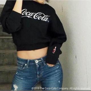 ジェイダ(GYDA)のGYDA★コカコーラ ショートスウェットプルオーバー 美品(トレーナー/スウェット)