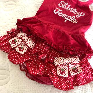 シャーリーテンプル(Shirley Temple)のShirley Temple*いちごのドットスカート80cm(パンツ)
