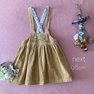 NEXT - イギリスベビー服✧next ネクスト 猫ちゃんサロペットスカート*̩̩̥୨୧˖