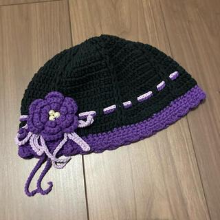 アナスイ(ANNA SUI)のアナスイ Anna sui アメリカ製 ニット帽 コットン(ニット帽/ビーニー)
