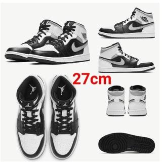 ナイキ(NIKE)のAir Jordan 1 Mid Shoe WHITE SHADOW 27cm(スニーカー)
