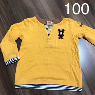 ミキハウス(mikihouse)のミキハウス ロンT 100cm イエロー(Tシャツ/カットソー)