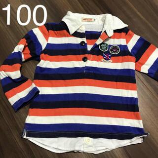 ミキハウス(mikihouse)のミキハウス ロンT ポロシャツ  ラガーシャツ 100cm(Tシャツ/カットソー)