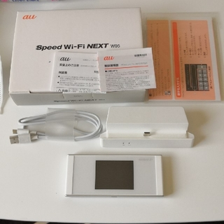 au - au Speed Wi-Fi NEXT W05 クレードル付