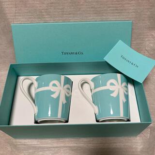 Tiffany & Co. - ティファニー プレートボックス マグカップ 2個 ペアマグカップ 新品 食器