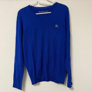 バーバリーブラックレーベル(BURBERRY BLACK LABEL)のBURBERRY BLACK LABEL セーター青色 size 1(ニット/セーター)