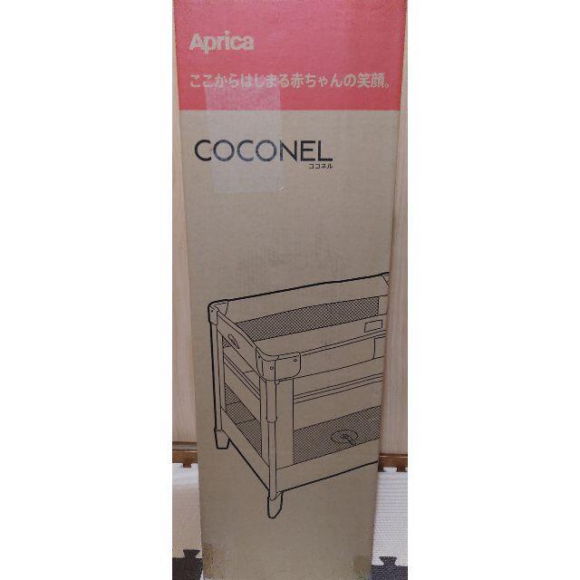 【新品】アップリカ(Aprica) 折り畳みミニベビーベッド ココネルエアー キッズ/ベビー/マタニティの寝具/家具(ベビーベッド)の商品写真