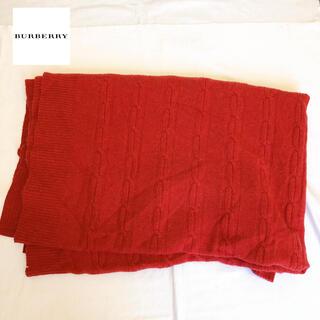 BURBERRY - 希少 高級 定価8万 1回使用 バーバリー ブランケット ウール レッド ひざ掛