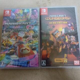 Nintendo Switch - 任天堂スイッチソフト マリオカート8 デラックス、マインクラフトダンジョンズ