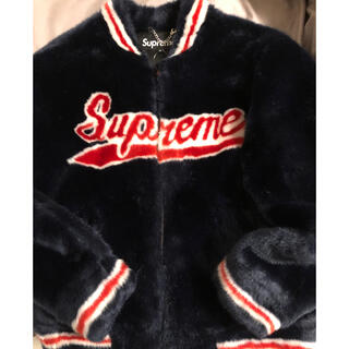 シュプリーム(Supreme)のsupreme faux fur varsty jacket(毛皮/ファーコート)