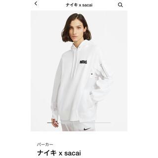 サカイ(sacai)のNIKE SACAI Hoodie ナイキ サカイ パーカー White XL(パーカー)