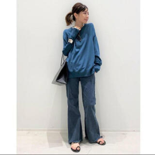 アパルトモンドゥーズィエムクラス(L'Appartement DEUXIEME CLASSE)のL'Appartement◇ side slit knit ブルーA(ニット/セーター)