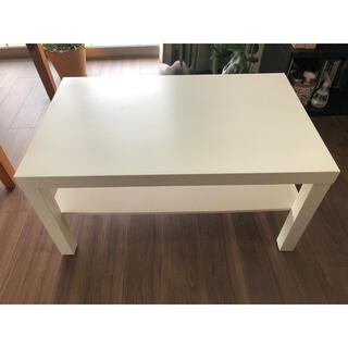 イケア(IKEA)のローテーブル IKEA ラック ホワイト(ローテーブル)