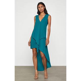 ビーシービージーマックスアズリア(BCBGMAXAZRIA)の❤️BCBGMAXAZRIA 新作新品 ブルーロングワンピース ドレス(ロングワンピース/マキシワンピース)