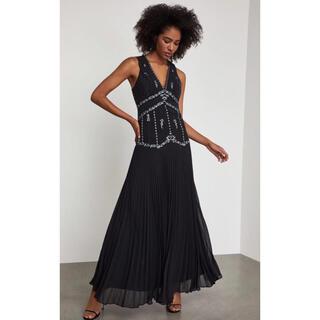ビーシービージーマックスアズリア(BCBGMAXAZRIA)の❤️BCBGMAXAZRIA2020秋新作新品 黒ドレス ロングワンピース(ロングドレス)