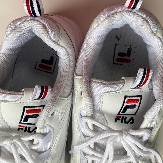 FILA(フィラ)のFILA 厚底 スニーカー 白 レディースの靴/シューズ(スニーカー)の商品写真