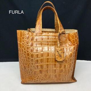 フルラ(Furla)のフルラ ハンドバッグ 型押し ライトブラウン(ハンドバッグ)