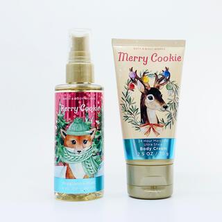 バスアンドボディーワークス(Bath & Body Works)のBBW Merry Cookie トラベルサイズ 2点セット  (ボディクリーム)