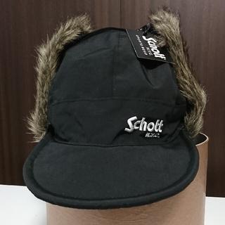 ショット(schott)の【新品】 Schott ショット キャップ 耳当て 帽子 黒 ブラック(キャップ)