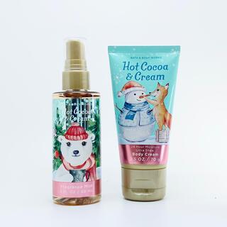 バスアンドボディーワークス(Bath & Body Works)のBBW Hot Cocoa & Creamトラベルサイズ 2点セット(ボディクリーム)