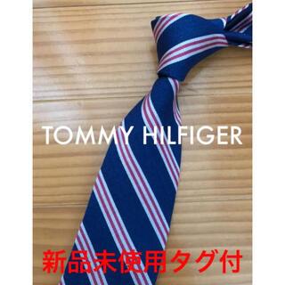 トミーヒルフィガー(TOMMY HILFIGER)の新品未使用タグ付 トミーヒルフィガー ロイヤルブルー×レッドストライプ(ネクタイ)