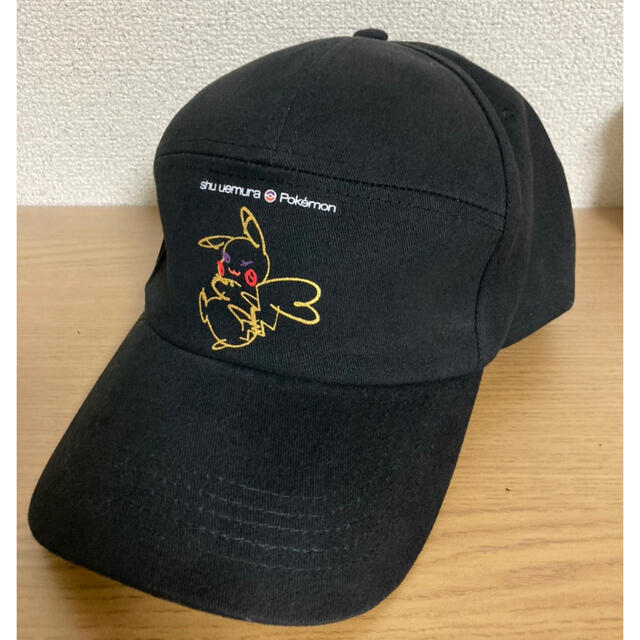 shu uemura(シュウウエムラ)の非売品 シュウウエムラ ピカチュウ 帽子 キャップ  コスメ/美容のキット/セット(コフレ/メイクアップセット)の商品写真