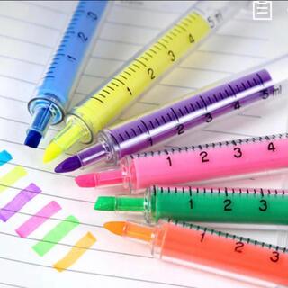 不思議な蛍光ペン 6色セット プレゼント 景品 可愛い 文房具