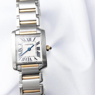 Cartier - 【仕上済】カルティエ フランセーズ SM コンビ レディース 腕時計