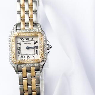 カルティエ(Cartier)の【仕上済】カルティエ パンテール SM コンビ 2ロウ ダイヤ 腕時計(腕時計)