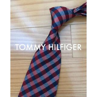 トミーヒルフィガー(TOMMY HILFIGER)の美品 トミーヒルフィガー ネイビー×レッドチェック(ネクタイ)