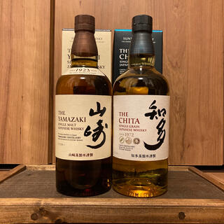 サントリー - 山崎 知多 ウイスキー フルボトル 2本セット yamazaki chita