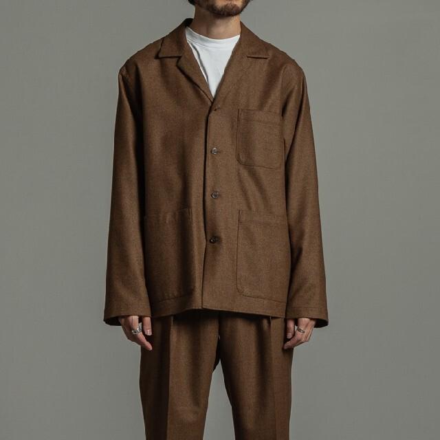 MARKAWEAR(マーカウェア)のMARKAWARE 20aw オーガニックウール フランネル シャツジャケット メンズのトップス(シャツ)の商品写真
