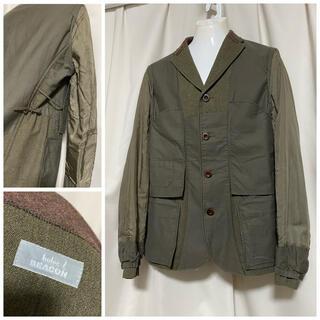 カラー(kolor)のkolor BEACON カラー 切り替えジャケット 2 M カーキ 16AW(テーラードジャケット)