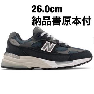 ニューバランス(New Balance)のnew balance 992 gg dark navy us9 26cm(スニーカー)