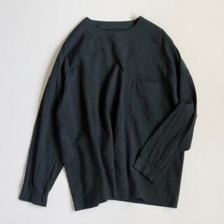 YAECA - ARTS&SCIENCE   Woven T-shirt ネイビー 美品