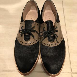 ガリャルダガランテ(GALLARDA GALANTE)のWASH おじ靴 ハラコ 黒 ブラウン 24 ガランテ IENA(ローファー/革靴)
