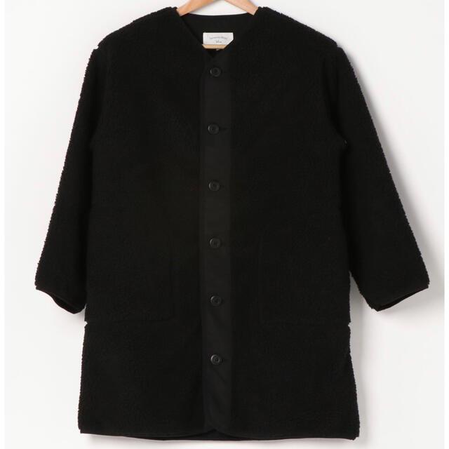 SM2(サマンサモスモス)のSamansaMos2   Blueロングボアジャケット Black レディースのジャケット/アウター(ノーカラージャケット)の商品写真