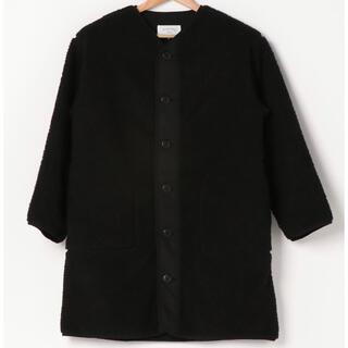 SM2 - SamansaMos2   Blueロングボアジャケット Black