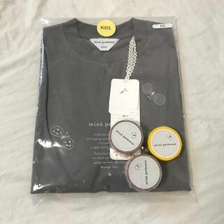 mina perhonen - ミナペルホネン キッズ Tシャツ セレブレイト ちょうちょ グレー 120 M