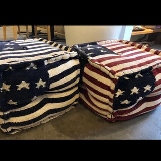 ダブルティー(WTW)のWTW ダブルティー 国旗柄 オットマン 椅子 ミニソファー インテリア 西海岸(オットマン)